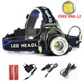5000LM LED headlight CREE XM-L L2 Headlamp zoom head lamp light torch flashlight adjustable Optional accessories 18650 battery