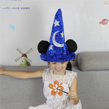 16cm * 36cm Mickey Mouse Trollkarl Hatt Stuffad Pussel Leksaker Högkvalitativ Fantasia Magic Hat Plysch Boy Toy For Birthday Gift