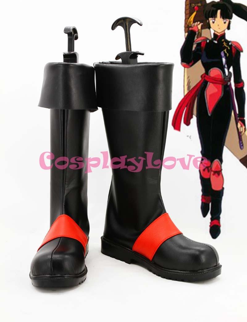 Inuyasha Sango Miroku Cosplay Shoes Boots Custom Made For Halloween Christmas Festival CosplayLove