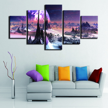 Wall Art Canvas Painting 5 Piece HD Print Picture Poster Living Room For Home Decor Landscape Artwork
