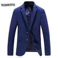 Royal Blue Formal Blazer Men Tweed Casual Men Wedding Clothes Turn Down Collar Blazer Slim Fit