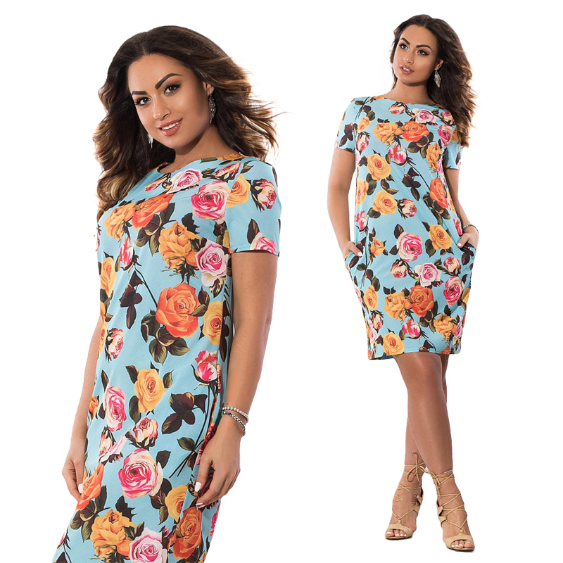 HTB1LYvYXhHBK1JjSZFqq6A0LXXal 2019 Autumn Plus Size Dress Europe Female Fashion Printing Large Sizes Pencil Midi Dress Women's Big Size Clothing 6XL Vestidos