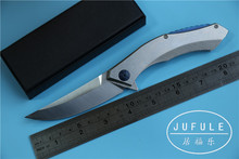 JUFULE tactical folding D2 blade full steel Handle camping hunting kitchen knife survival gift pocket knives utility EDC tools