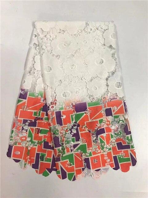 Frican 레이스 코튼 레이스 아프리카 코드 레이스 직물 높은 품질 흰색 코드 레이스 Guipure 패브릭 웨딩 드레스!! jy-5-2