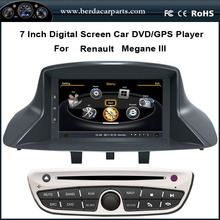 7″Touch Screen Car DVD For Renault Megane 3 Fluence With Stereo GPS Navigation Radio BT Ipod USB/SD (TV option)