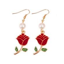 2017 fashion earrings girl rose earrings Delicate han edition earrings wholesale цена