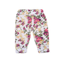 Autumn New Warm Newborn Infant Kids Baby Girls Floral Leaf Print Hole Ripped Loose Pants Trousers Fashion Clothes Newest