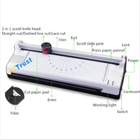A3 Document Photos Dedicated Laminator With Paper Cut Function Hot And Cold