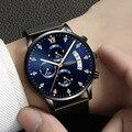 Креативные мужские часы 2019 водонепроницаемые немеханические часы модные многофункциональные роскошные часы с трехглазным хронографом