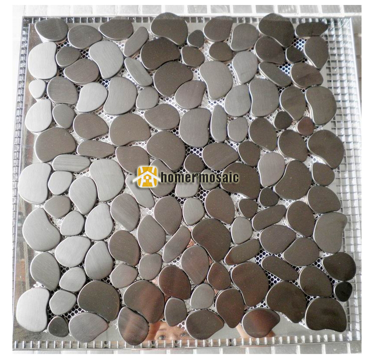 Online Shop Pebble Design Gray Color Brushed Finished Stainless