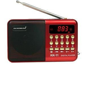Digital Radio Speaker Portable Mini FM Radio USB TF MP3 Music Player Telescopic Antenna Handsfree Pockets Receiver Outdoor k11