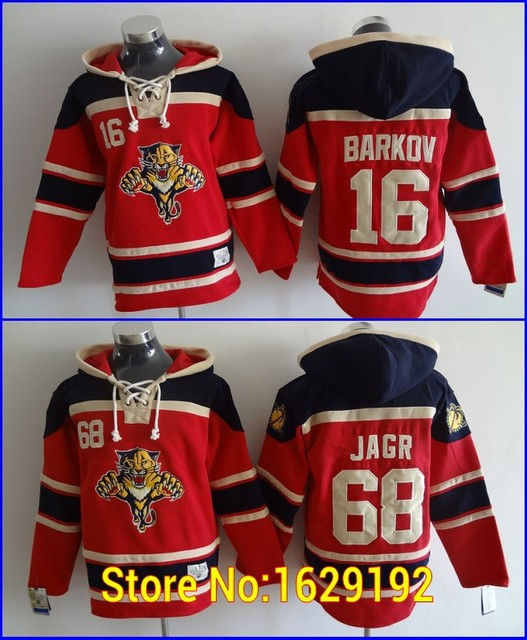 1bcf1e85081 Mens Sweatshirt Florida Panthers Jersey Hoodie 16 Aleksander Barkov 68  Jaromir Jagr Red Old Time Ice Hockey Jerseys Hoodie Cheap