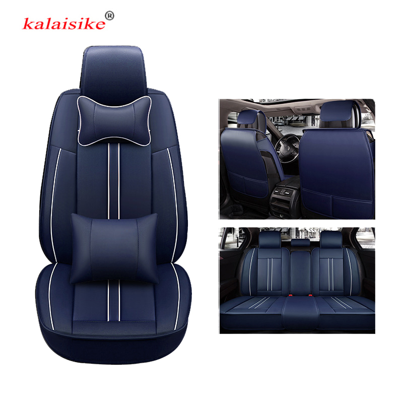 kalaisike leather universal auto seat covers for Buick all model VELITE Excelle Envision Verano ENCORE enclave regal car styling