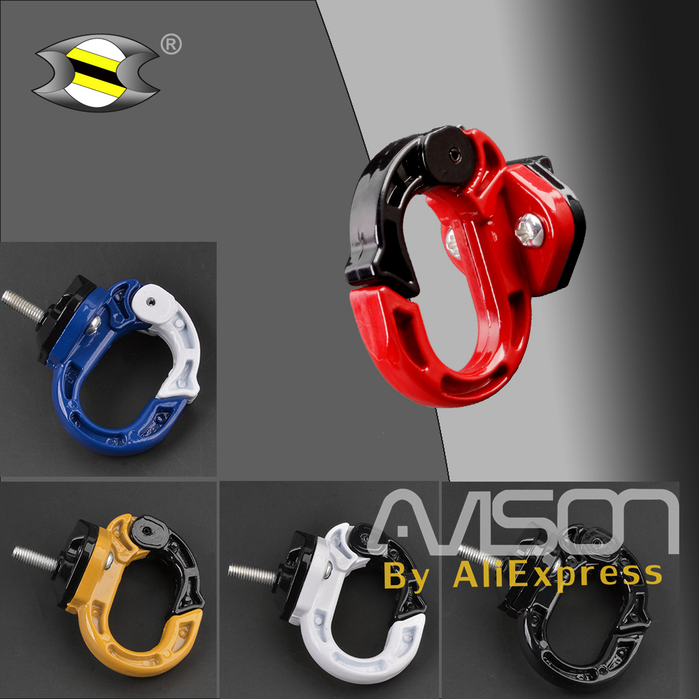 Universal Motorcycle Scooter Bag Bottle Hook Bicycle Helmet Holder Aluminum Alloy Hanger with Screws Luggage Hook Mount