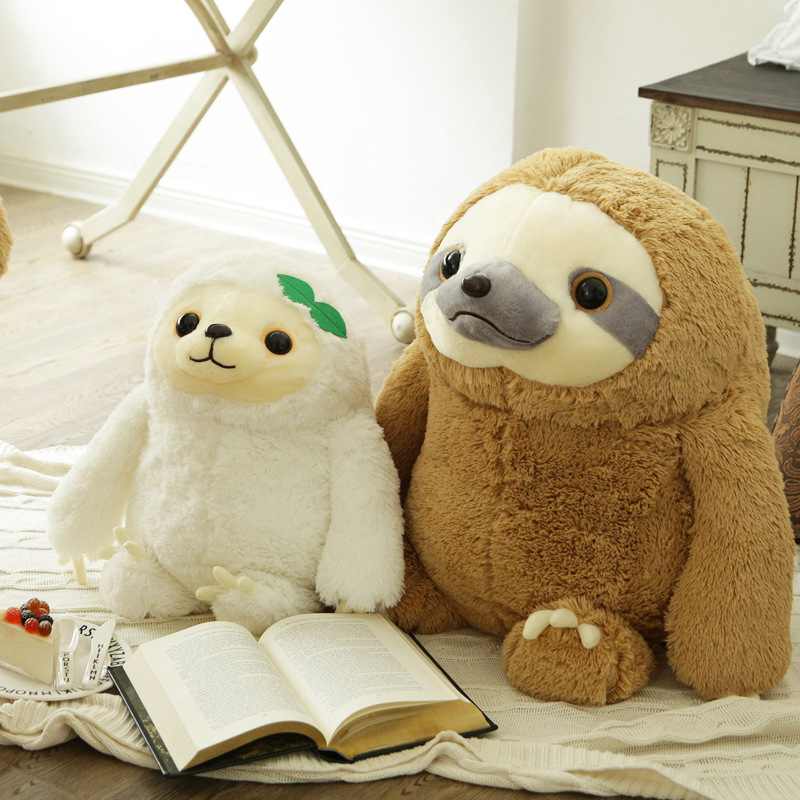 cute sloth plush toys with big eyes simulation animal giant stuffed toys for kids dolls. Black Bedroom Furniture Sets. Home Design Ideas