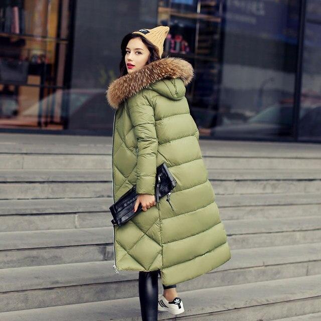 Quintina 2016 Новые Моды для Женщин Вниз Пальто Тонкий Зимнее Пальто женщин Длинные Пальто Женщин Вниз Куртки Куртка