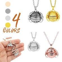 Xinyao Magic 4 Photo Pendant Memory Floating Locket Necklace Angel Wings Flash Box Fashion Album Necklaces