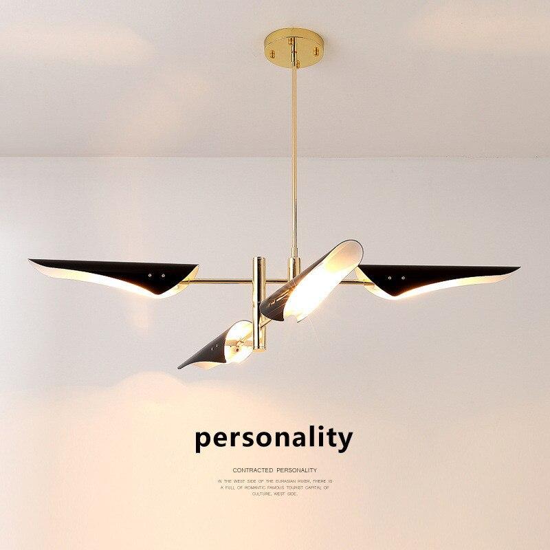 Nordic Post-modern Creative Living Room Chandelier Clothing Shop Restaurant Bedroom Villa Lamp Metal Bevel Lamp Free Shipping цена и фото
