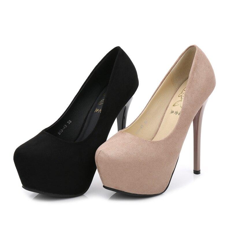 Zapatos Suave Impermeable Mujeres Alta caqui Redonda 2019 De Tacón Club Boda Negro Color Las Nocturno Franela Nude Sexy Nuevo Cabeza qIYxa