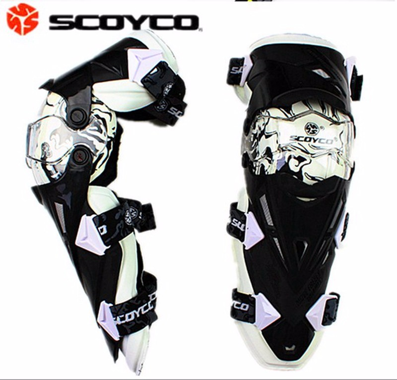 Hot sales Motorcycle Racing Protective Guard Gear Knee pad Knee Protector Motor Bike Knee Gear Scoyco K12 knee patella sport support guard pad protector brace strap stabilizer protection white