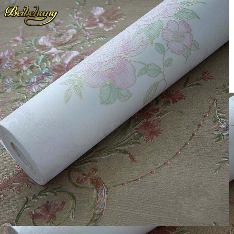 beibehang papel de parede. 3D three-dimensional relief of European non-woven wallpaper warm living room bedroom garden wallpaper beibehang 3d precision three dimensional nonwoven papel de parede 3d wallpaper classic warm living room bedroom wallpaper tapety