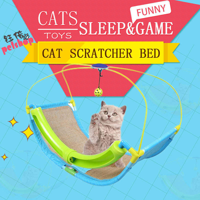 Multi-function Cat Scratcher Game Hammock Cradle Bed With Ball Fun Pet Products Cat Toy Supplies Scratchers Pad for Cat Toys