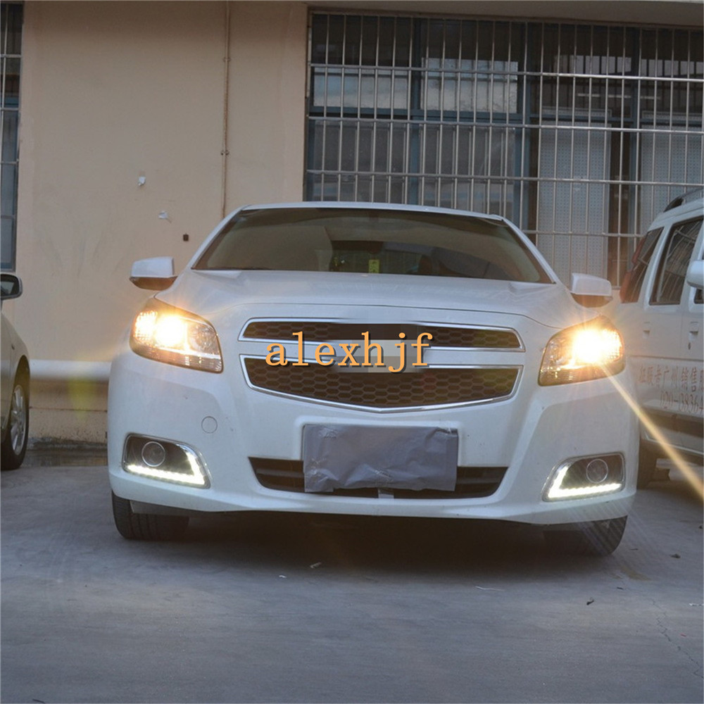 July King LED Daytime Running Lights DRL With Ice Blue Night Running Lights, 12LEDs Fog Lamp case for Chevrolet Malibu 2012~15 лонгслив printio ice king x batman
