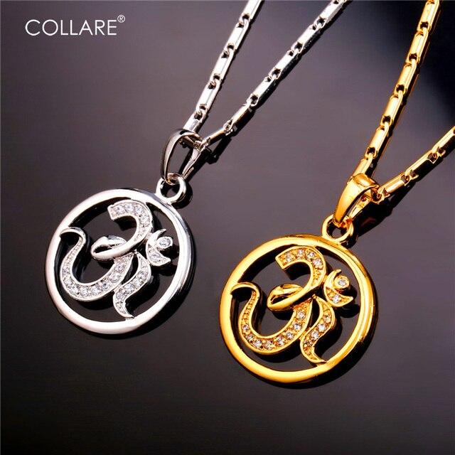 Collare Hindu Religion Crystal Necklaces Pendants GoldSilver