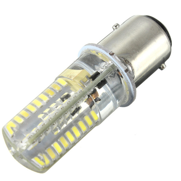 72 LED Light Bulb BAY15D 1157 3014SMD Silicone Crystal Marine Lights Car Boat Lamp Bulb Warm Pure White Lighting AC/DC12-24V 3156 12w 600lm osram 4 smd 7060 led white light car bulb dc 12v