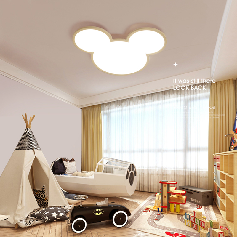 NEO Gleam Mickey Modern Led Chandelier lights lamp for Children Room Kid Deco Surface Mounted chandelier fixtures