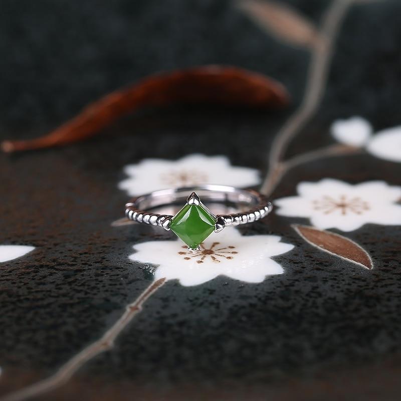 2019 ограниченное по времени ограниченное количество Anel Masculino Anel натуральное кольцо для женщин 925 Стерлинговое открытие Hetian Gem женские Символ... - 2