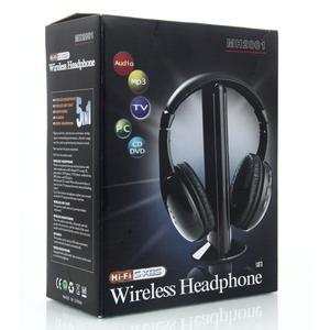 Image 5 - 5 in 1 무선 헤드폰 mp3 pc tv 용 고품질 사운드 무선 헤드폰 남성과 여성을위한 블랙 휴대용 지원 도매