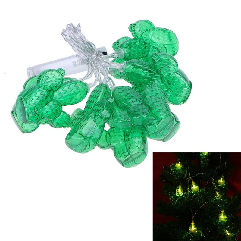 10 LEDs Cactus Led String 1.5M Curtain Holiday Lights New Year Party Garland Wedding Christmas Decoration for Home
