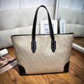 New Design Geometric Pattern Women Fashion Handbags Embossing Large Casual Tote For Ladies Shoulder Bag Feminina Bolsa