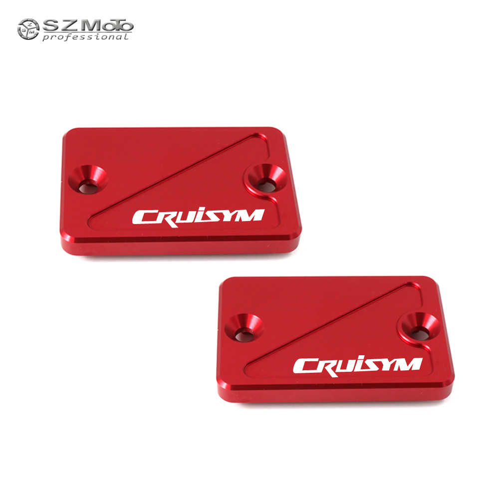 For <font><b>SYM</b></font> CRUISYM GTS <font><b>300i</b></font> GTS300i 2017-2018 Front Rear Brake Master Cylinder Fluid Reservoir Cover Cap Motorcycle Accessories image