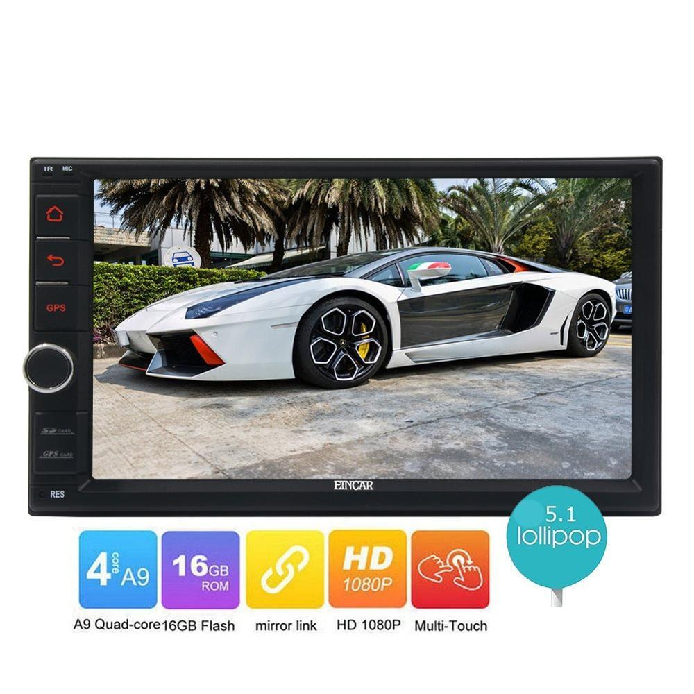 Android 5.1 Car NO DVD Auto Radio Video 1080P Multimedia Player two 2din GPS Navigator car Deck Head Unit Screen Mirroring Wifi