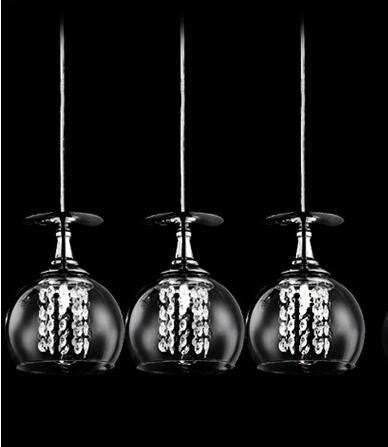 Modern Crystal Glass Clear Wineglass Wine Glass pendant Light Lamp bedroom dining room fixture gift FG784Modern Crystal Glass Clear Wineglass Wine Glass pendant Light Lamp bedroom dining room fixture gift FG784