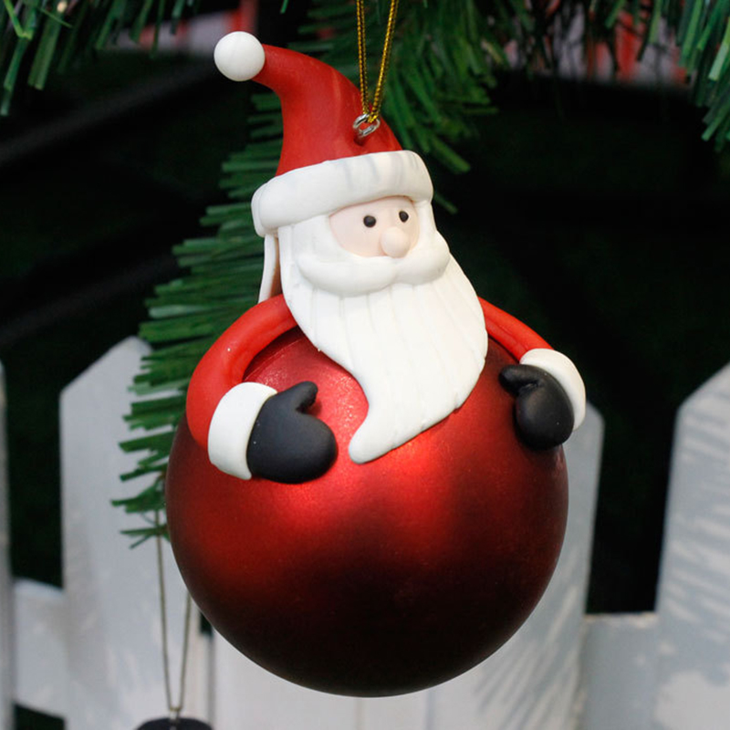 Santa Claus Reindeer Snowman Christmas Baubles Balls Ornament Xmas Tree Decorations For Home New Year Door Decor Cristmas Gift