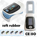 with Soft Rubber Cover Pulse Oximeter Oximetro Blood Oxygen Saturation Monnitor 5 Colors