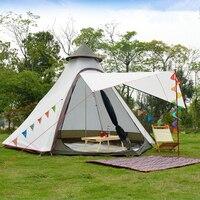 Легкий водонепроницаемая палатка для семьи индийский Стиль Пирамида типи палатка