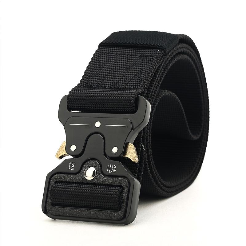 HipHop Street Wear Belt Rollercoaster Metal Button Canvas For Women Men Safety Belts Fashion Rollercoaster High Quality