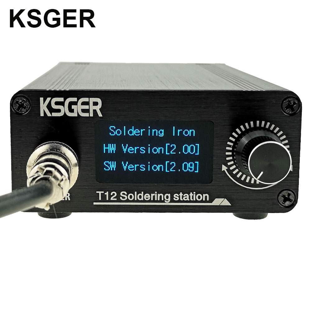 Image 2 - KSGER T12 OLED Soldering Station T12 Iron Tips STM32 DIY Assembled Kits ABS Plastic FX9501 Handle Electric Tools Welding HeatingElectric Soldering Irons   - AliExpress