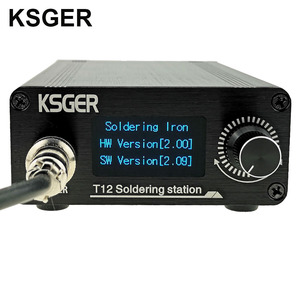 Image 2 - KSGER T12 OLED Soldering Station T12 Iron Tips STM32 DIY Assembled Kits ABS Plastic FX9501 Handle Electric Tools Welding Heating