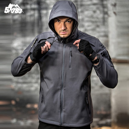 2018New Military Tactical Outdoor Soft Shell Fleece Jacket Men Army Polartec Sportswear Thermal Hunt Hiking Sport Hoodie Jackets