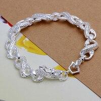 B145 10 stks 2016, zilveren Mode Kleine Witte Draak Charme armbanden armband, Groothandel Sieraden