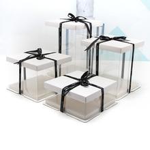 4-16 дюйм(ов) белая Подарочная коробка простые прозрачные подарочные коробки Контрактная коробка для торта большой размер Роза медведь коробка день рождения торт Gaine