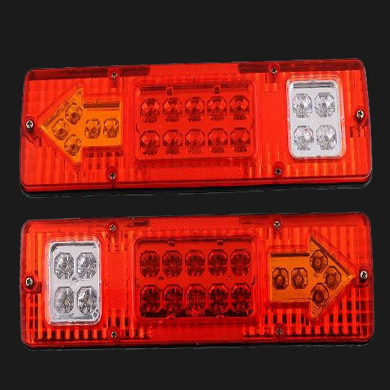 бесплатная доставка 2x 19 светодиодов прицеп грузовик на колесах ATV сигнала поворота запущен хвост свет белый-желтый-красный