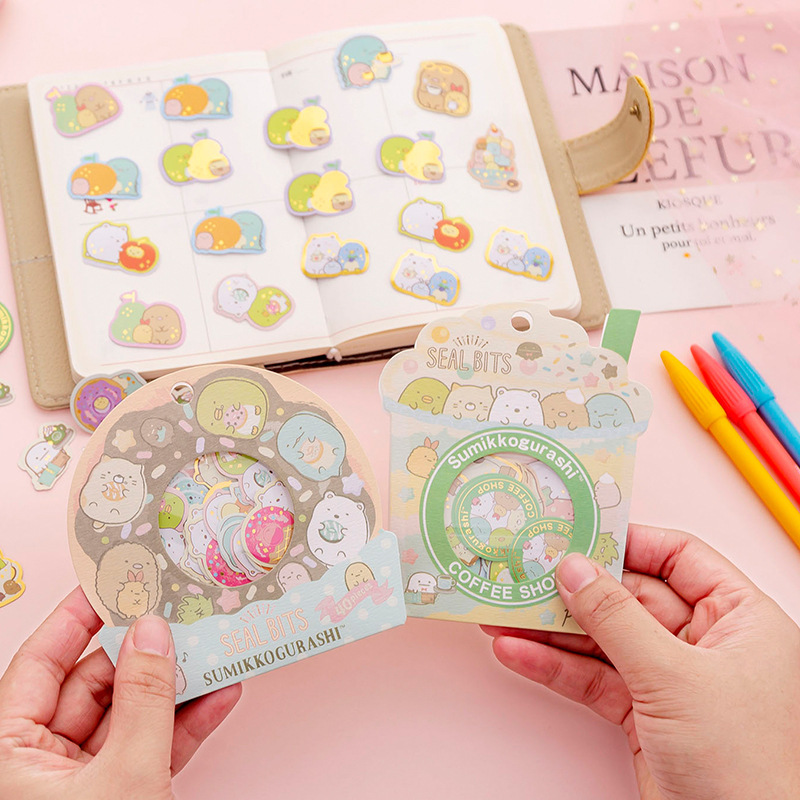 40 Sheets /Bag Kawaii Sumikko Gurashi Decorative Stickers Computer Notebook Decor