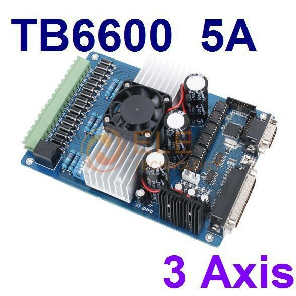 3 Axis Stepper Driver Controller TB6600 Motor Board 5A DC12-48V CNC Kit 1PC - Flyingtek CCTV surveillance products store