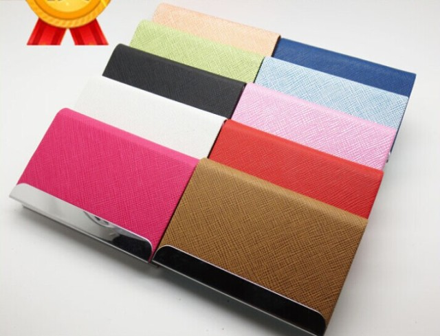 Wholesale customized leather elegant business card holder wholesale customized leather elegant business card holderpromotional many color embossed logo business card holder colourmoves